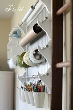 I am always looking for a better way to organize my craft room especially the ribbon. Sweet idea!