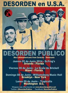 Afiche de la gira de Desorden Público por Estados Unidos - Tutupash