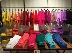 "BENETTON,Barcelona,Spain, ""Slip Into Something More Colorful', photo by TWO visual, pinned by Ton van der Veer"