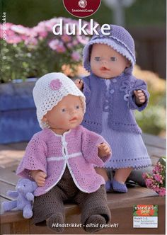 Album Archive - Dukketøj til Baby Born 2 - Ingelise Baby Born Clothes, Pet Clothes, Barbie Clothes, Baby Cardigan Knitting Pattern, Baby Knitting Patterns, Baby Patterns, Knitted Doll Patterns, Knitted Dolls, Knitting Dolls Clothes