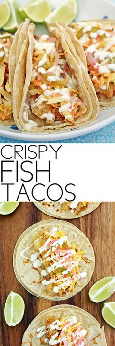 Crispy Fish Tacos #tacos #fishtacos #superbowl