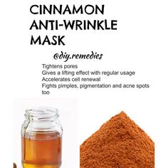 """5,095 Likes, 526 Comments - DIY REMEDIES (@diy.remedies) on Instagram: """"Cinnamon has numerous skin and hair benefits. It is a good acne treatment, anti aging treatment as…"""""""
