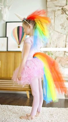 Your kid will be the talk of the classroom in this DIY Unicorn girl's costume.