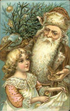 German Santa with Brown Robe Girl