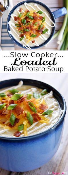 Cooker Loaded Baked Potato Soup ~ a smooth and creamy crock pot soup ...