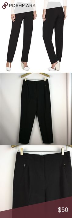 """BCBG MAXAZRIA Drake High Rise Ankle Pants \\ Sz 6 BCBG MaxAzria """"Drake"""" Pants Size small - fits 4/6 best Polyester Blend Gently preowned with no flaws - no stains, no holes, no fading Super cute fit! The picture don't do them justice.  15 inches across waist 11 inch rise about 28 inch inseam (ankle length) 7 inch leg opening BCBGMaxAzria Pants Trousers"""