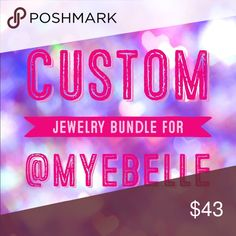 Custom Bundle Includes: •Bronze Love Note Necklace: $7 •Stella & Dot Rose Gold Hoop Earrings: $10 •Juicy Couture Cupcake Earrings: $13 •Juicy Couture Crown Earrings: $10 •Gold CA Bracelet: FREE! •Red and Pearl Flower Shoe Clips: FREE! Thank you! Jewelry