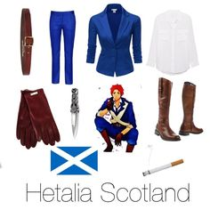 The only parts of this outfit I wouldn't wear/use would be the cigarette and the sgian dubh (the little dagger).