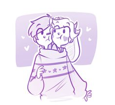 My Lil babies sharing a sweater