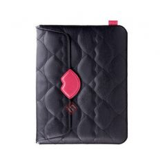 Fashion New Monroe's Kiss Series Leather Case Cover for iPad Air - Black US$33.69
