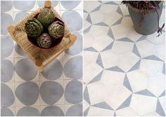 Marrakech design muima* barefootstyling.com Mosaic Designs, Best Flooring, Materials And Textures, Front Porch Decorating, Moroccan Design, Floor Patterns, Colourful Tile, Floor Finishes, Stencil Projects