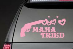 Mama Tried - Merle Haggard, girls with guns Vehicle Decals, Car Decals, Ford Pickup Trucks, Chevy Trucks, Pink Pistol, Ford Girl, Everything Country, Future Trucks, Country Lifestyle