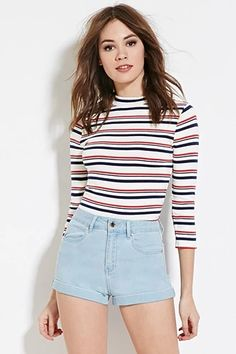 High-Waisted Denim Shorts | Forever 21 #f21denim