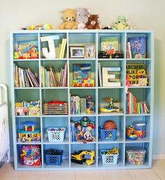 DIY cube shelving
