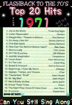 Music Hits, 70s Music, Music Songs, Rock Music, Rock Songs, Music Mood, Hit Songs, Music Stuff, Top 20 Hits