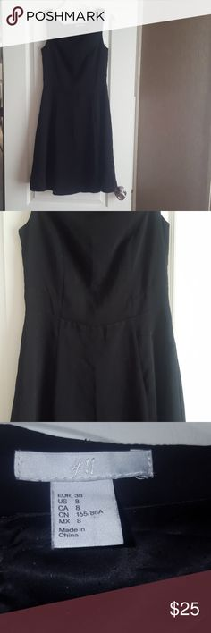 """H&M Simple black dress Little black dress, zipper down the back, 38"""" in length. Size 8 from H&M only worn once, great condition! H&M Dresses"""