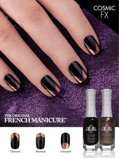FRENCH MANICURE - a new twist the Chevron French Manicure.Create this look and more with the COSMIC FX kit by ORLY.