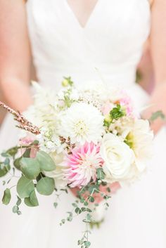 summer wedding bridal bouquet floral inspiration | Katelyn James Photography