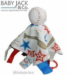 Educational baseball baby blanket