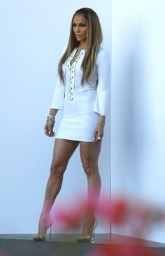 Singer Jennifer Lopez is seen arriving for tonights 'American Idol' show in Hollywood, California on May 1, 2014.