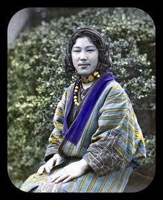 Ainu girl of Old Japan.
