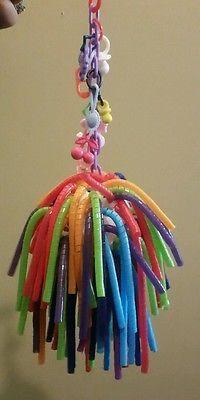Sugar Glider/Bird Toy- Straw Ball Design