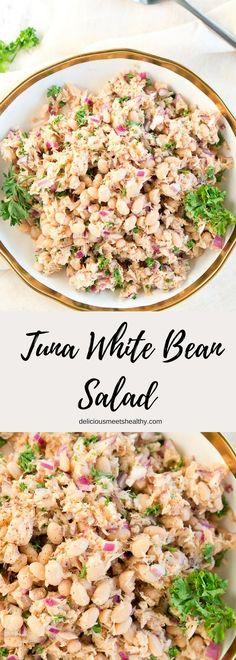 Tuna White Bean Salad via @NeliHoward