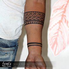 s tattoo studio 09974432274 www. Maori Tattoo Arm, Tribal Band Tattoo, Tribal Forearm Tattoos, Wrist Band Tattoo, Inner Forearm Tattoo, Tattoo Bracelet, Leg Tattoos, Tattoos For Guys, Sleeve Tattoos