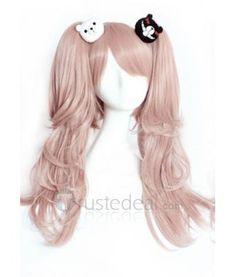 Danganronpa Trigger Happy Havoc Junko Enoshima Pink Cosplay Wig - Anime Cosplay - Pink Hair