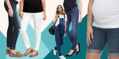 Designer and affordable jeans that will flatter your growing bump.