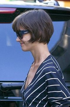 Katie Holmes in a Short Straight Bob Haircut