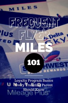 Frequent Flyer Miles 101: Basics Every Traveling Parent Should Know --Redeeming frequent flyer miles is harder than ever. But all is not lost. You can develop a strategy for your family to earn and use miles with these tips. --by Leslie Harvey, Frequent Flyer TravelingMom --Read more at http://www.travelingmom.com/frequent-flyer-miles-101-basics-every-traveling-parent-know/#ZdXAz7jMKLTw7iR8.99