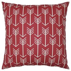 JinStyles Arrow Cotton Canvas Decorative Throw Pillow Cover Christmas Red and White 24 x 24 inches * Details can be found by clicking on the image.-It is an affiliate link to Amazon. #DecorativePillowsInsertsCovers