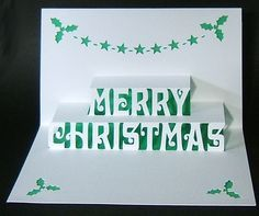 Pop-Up – Merry Christmas – Centre  Colour – Sophisticutz