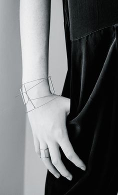 Geometric Bangle - modern minimalist jewellery // Agata Bielen