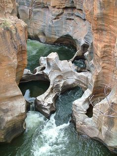 Bourke's Luck Potholes in Blyde River Canyon, South Africa (by kath & theo).