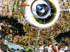 NASA Space Settlement Images - Bernal Sphere Interior