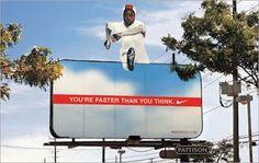 Nike guerilla marketing billboard