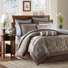 Amazon.com - Aubrey 12 Piece Comforter Set Size: California King - Bed In A Bag