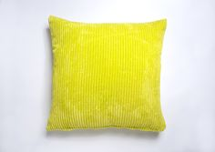 A Large Yellow cushion Cover. + Free postage and returns. Available in 19 other colours. Link to shop in bio. Lime Green Cushions, Striped Cushions, Yellow Cushion Covers, Colours, Throw Pillows, Link, Free, Shopping, Toss Pillows