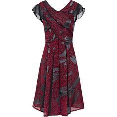 Reiss Loretta Chiffon Insert Dress ($102) ❤ liked on Polyvore