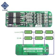 3S 5A 12V Li-ion Lithium Battery 18650 Charger PCB BMS Protection Board Cell SY