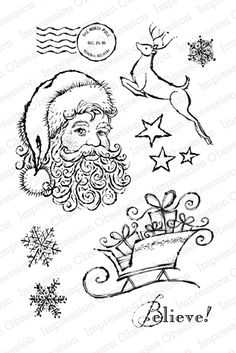 Impression Obsession Rubber Stamps Clear Stamp Set - North Pole