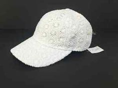 J-Crew-Factory-Womens-Eyelet-Baseball-Cap-NWT-One-Size-Color-White