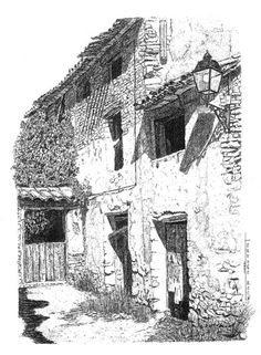 Portal de blogs literarios, comunidad literaria, y foro literario Landscape Sketch, Landscape Drawings, Cityscape Drawing, Painting & Drawing, Architecture Drawing Sketchbooks, Ink In Water, Ink Pen Drawings, Drawing Projects, Drawing Skills
