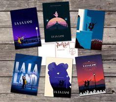 La la Land set 6 postcards  Emma Stone by PaperBunnyWorkshop