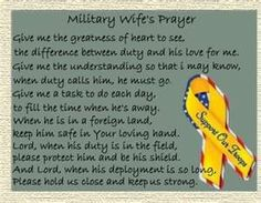 love this: Military Wife's Prayer