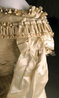 Silk Wedding Dress, Met Museum, c. 1855-1862 (detail)