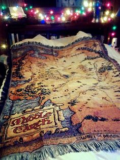 middle earth map blanket