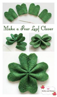 Simple Felt Four Leaf Clover for Saint Patrick's Day - 15 Irish-Themed DIY St. Patrick's Day Decorations and Crafts for Kids